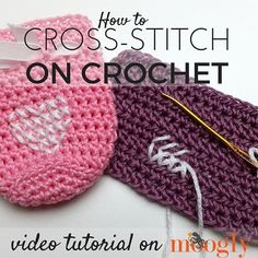 """590 Likes, 4 Comments - Tamara Kelly (@mooglyblog) on Instagram: """"Do you love adding special touches to your crochet projects? Try cross-stitching! Learn how today…"""""""