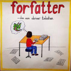 Forfatter Ark, Grammar, Education, Store, School, Tips, Ideas, Danish Language, First Grade