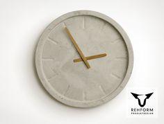 Wanduhr aus Beton // Concrete clock by rehform via DaWanda.com