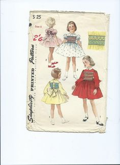 Vintage paper pattern Simplicity little girls by Marcialois, £4.00