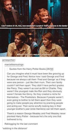Ummm I'm sorry this is cute, but there family could tell them apart! There entire family could if Harry could figure it out in one year then the Weasleys could in Fred and George's life time... common sense
