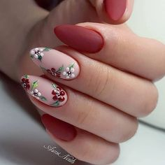 elegant autumn nail designs have to try - blackish green floral stiletto na. - elegant autumn nail designs have to try - blackish green floral stiletto nails inspo 17 ~ Modern House Design - Manicure E Pedicure, Manicure Ideas, Nail Tips, Nail Ideas, Nails Inc, Diva Nails, Nagel Gel, Flower Nails, Rose Nails