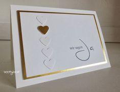 CASEd this for an engagement congratulations card - Hochzeitskarten Wedding Anniversary Cards, Wedding Cards, Wedding Invitations, Engagement Congratulations, Congratulations Card, Coffee Wedding Favors, Engagement Cards, Engagement Tips, Saint Valentine
