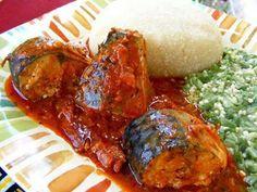 Banku and okro stew