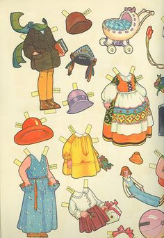 Vintage Paper Doll Costumes 4 | von contrarymary