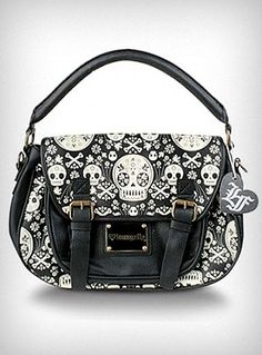 Saccharine Skull Cross-Body Satchel | PLASTICLAND