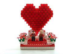 Lego Valentine 2009 #1 Lego Valentines, Valentine Day Gifts, Valentine Picture, Valentine Pics, Love Wallpaper, Christmas Presents, Legos, Got Married, Snow Globes