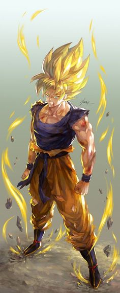 I love the art in this picture I'm a super duper DBZ fan and super