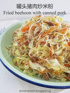 Canned Pork Fried Bee Hoon