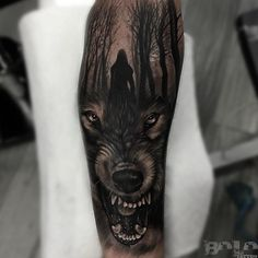 Wolf sleeve tattoo by boloarttattoo. Sleeve tattoos for men tell wondrous stories, they mesmerise any onlooker & are sexy as hell. There's nothing quite like a man with a sleeve tattoo. Enjoy!