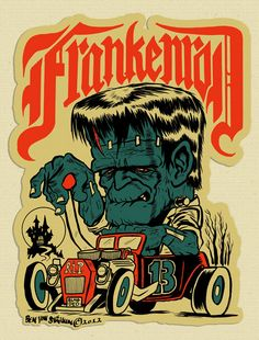 FRANKENROD (Decal Version) STICKER