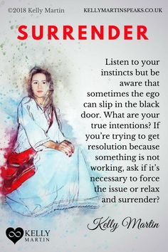Sometimes surrendering is needed far more than trying to fix a situation. If you are trying to force an issue often the best activity can be to do nothing and relax and let the answer and resolution arise on its own. #quote #surrender #ego