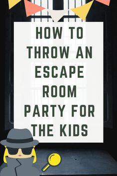 How To Throw An Escape Room Party For The Kids - - How To Throw An Escape Room Party For The Kids Erziehung Wie man eine Fluchtraumparty für die Kinder schmeißt Escape Room Themes, Escape Room Diy, Escape Room For Kids, Kids Room, Room Escape Games, Boy Room, Escape Room Challenge, Diy Birthday, Birthday Parties