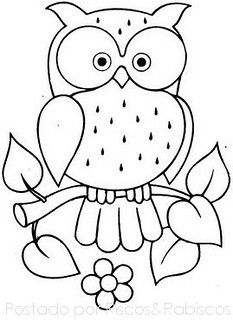 69 New Ideas For Patchwork Quilting Patterns Fun Art Drawings For Kids, Bird Drawings, Drawing For Kids, Easy Drawings, Kids Printable Coloring Pages, Owl Coloring Pages, Coloring Books, Colouring, Owl Patterns