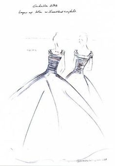 Gown sketches