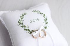 Ring Bearer Pillow Wedding Ring Pillow white ring pillow
