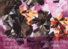 강민성_Poisonous Flowers (pink)_ acrylic on canvas_150x150 cm_2016 (위 이미지를 클릭하면 작가의 홈페이지로 이동합니다.)    Glitz&Glamour   강 민 성 KANG MIN SUNG   Painting  레스빠스71 l'espace71  2016.11.16 (Wed)
