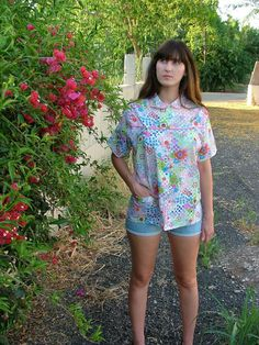 Vintage Shirt.Shirt.Shirts.Blouses.Tops.Size M by shpirulina