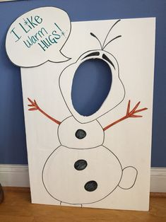 Olaf face cutout #DIY for baby girls birthday party …