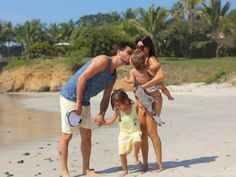 Kourtney Kardashian - family stroll on the beach in Mexico at Casa Aramara