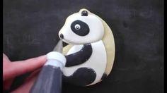 Panda Love. Cookie decorating video tutorial by Yankee Girl Yummies