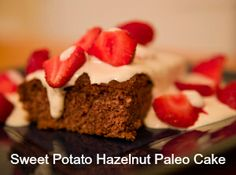 ... Sweet potatoes and hazelnuts make this #paleo cake #recipe a real