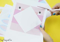 Easter Cootie Catchers - Bunny and Chick Origami for Kids - Easy Peasy and Fun