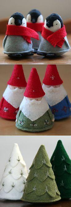 К зимним праздникам: Рождество чувствовал   сделать ручной работы, вязание крючком, ремесла #feltcrafts