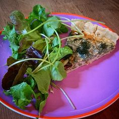 Our fennel & Kentish Blue cheese tart served up with a side of @rippleorganics gorgeous salad. So tasty! #healthylunch #tastyfood #BuyLocal