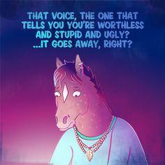 9 Sad Bojack Horseman Quotes That Strike Deep! - The RamenSwag Disney Channel, Cartoon Network, Sarah Lynn, Crossover Episodes, Bojack Horseman, Comic, Dark Thoughts, Man Wallpaper, Cartoon Crossovers