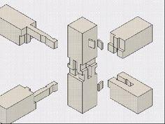 Estos archivos GIF profundamente satisfactorios explican intrincada carpintería japonesas - blogs de Arquitectura