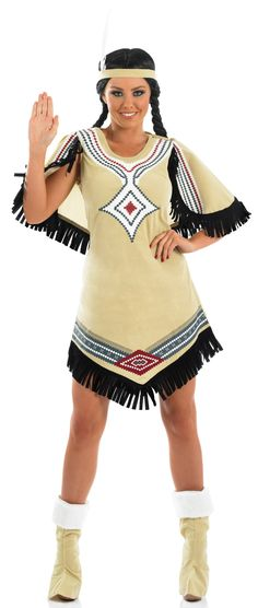 Disfraz de india mujer. Disponible en www.vegaoo.es
