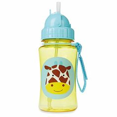 Buy Skip Hop Zoo Straw Bottle-Giraffe online and save! A major milestone for toddler is when she is ready to move on from sippy cups. The Zoo Straw Bottle helps ease this transition by giving little ones a. Baby Bottles, Drink Bottles, Water Bottles, Skip Hop Zoo, Baby Store, Bottle Design, Animal Design, Dishwasher, Sippy Cups