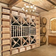Weinregalsystem VINCASA 60 cm aus Kiefern-Holz Wine rack system VINCASA 60 cm made of pine wood - view 3 Wall Bar Shelf, Wall Shelves, Wine Rack Inspiration, Spiral Wine Cellar, Wine Cellar Basement, Home Wine Cellars, Wine Cellar Design, Wine House, Wine Glass Rack