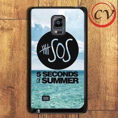 5 Second Of Summer Ocean Logo Samsung Galaxy Note Edge Case