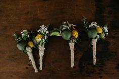 boutonniere with gum nuts and native flowers St Joseph, Wedding Inspiration, Bouquet, Colour, Wedding Dresses, Flowers, Photography, Saint Joseph, Color