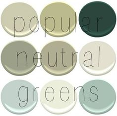 Top Selling Benjamin Moore Greens: Camoflauge, Georgian Green, Hunter Green, Louisberg Green, Nantucket Gray, November Rain, Palladian Blue,...AND Woodlawn Blue (not pictured)