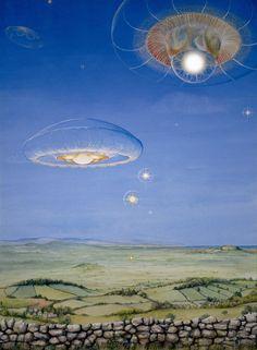Cosmic Leap' – Sky medusae painting (Philippa…