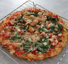 Jo and Sue: Cauliflower Crust Pizza Gluten-free, high nutrient-density pizza. Trying this one tomorrow!