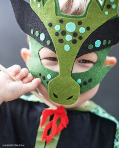 Felted No Sew Dragon Mask