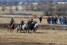 Civil War re-enactment at Prairie Grove, Ark.