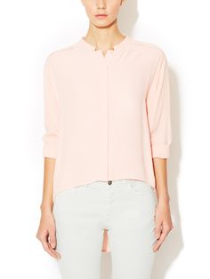 Button Front Standing Collar Tunic by See by Chloe at Gilt