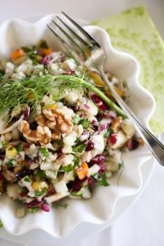 Fennel, Pear, Cranberry Salad- perfect for lunches.