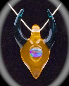 """Hemlock """"Peachy"""" Horned Mini Pendant  $110 at TheHeadyHive.com"""