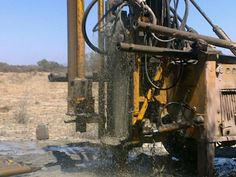 Drilling of a borehole .