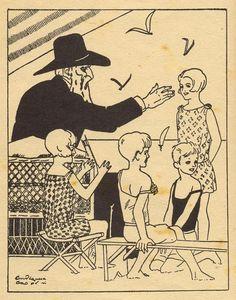 """Ilustración de Pedro Antequera Azpiri para el libro """"Contando cuentos"""" de Angélica Palma."""