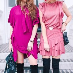 Tackling the Trends: new post on how to wear this seasons ruffles now over on our blog {www.belleandbunty.co.uk/blog} {by @margarita_karenko} {ruffle dresses}