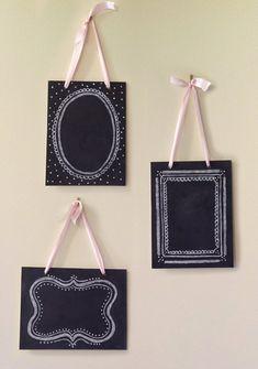 Set of 3 Vintage Chalkboards - Shabby Chic Decor - Wedding Chalkboards - Hanging Chalkboards. $75.00, via Etsy.