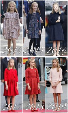 Your source for Felipe, Letizia, Leonor and Sofia of Spain news Princess Outfits, Girl Outfits, Baby Girl Fashion, Kids Fashion, Little Girl Dresses, Girls Dresses, Royal Family Portrait, Baroque Dress, Princess Of Spain