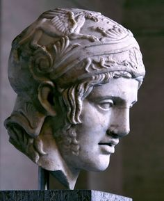 Head of Ares, ca. 430-420BC. - with a griffin on his helmet